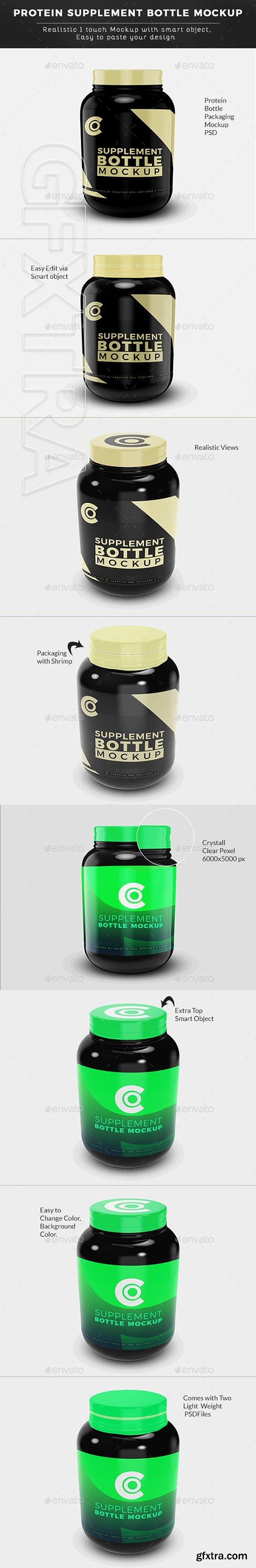 GraphicRiver - Protein Supplement Bottle Mockup 22710606