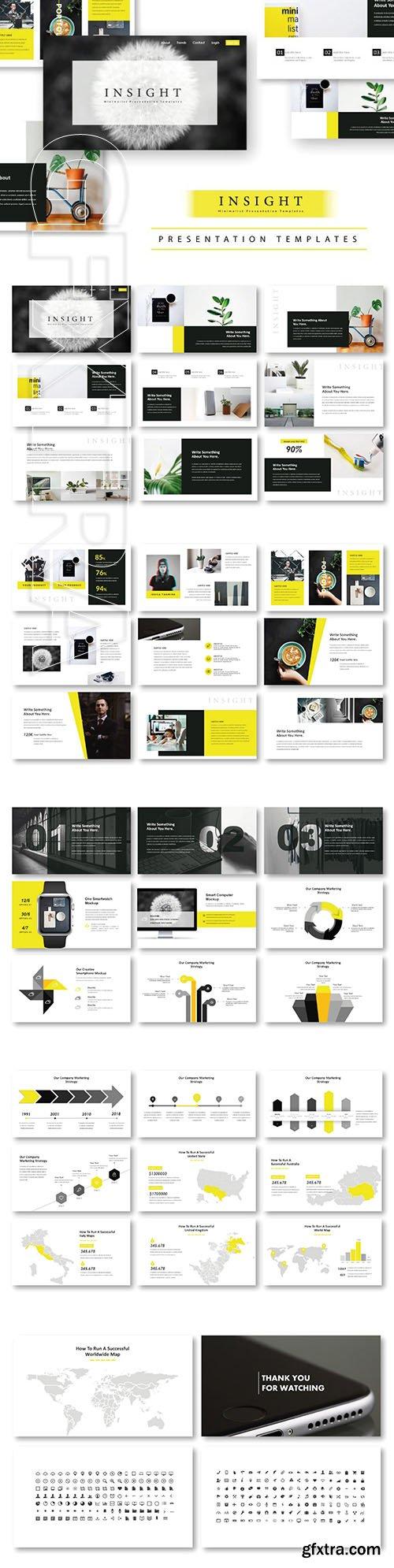 CreativeMarket - Insight Minimal PowerPoint Template 2901867