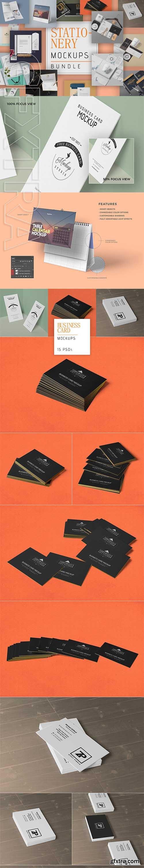 CreativeMarket - 111 Stationery Mockups Bundle 2984761