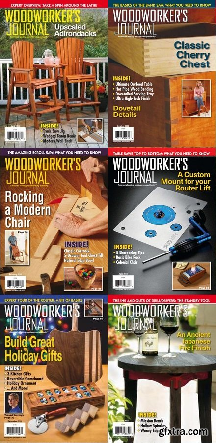 Woodworker\'s Journal - 2018 Full Year Issues Collection