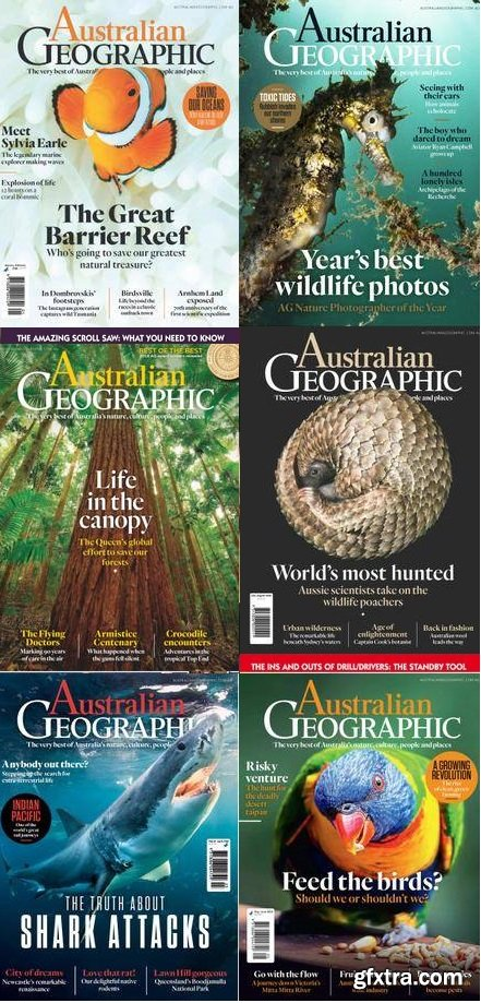 Australian Geographic - 2018 Full Year Issues Collection