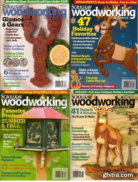 ScrollSaw Woodworking & Crafts - 2018 Full Year Issues Collection