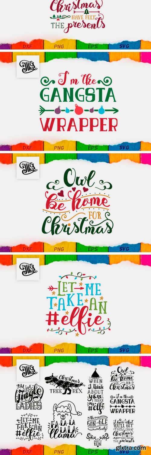 Creativefabrica - Christmas Puns Bundle 654576