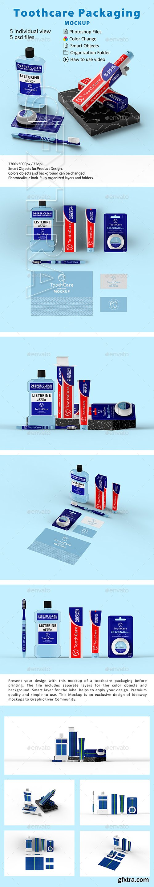 GraphicRiver - Toothcare Packaging Mockup 22723216