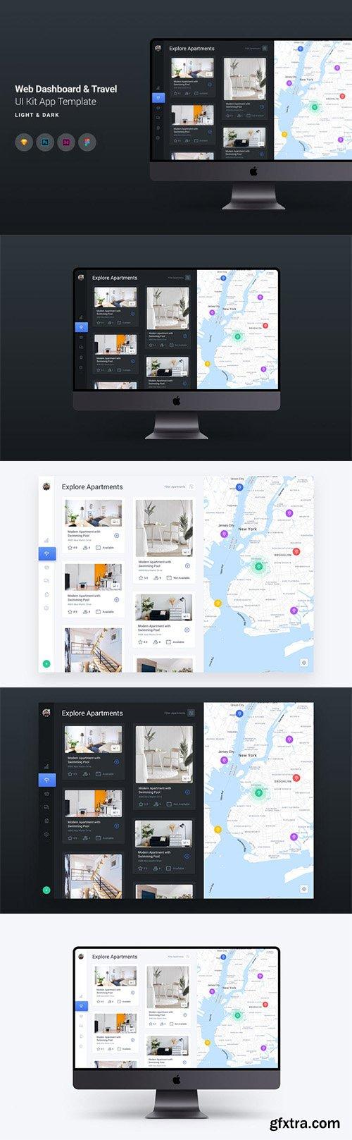 Web Dashboard & Travel UI Kit App Template 5