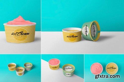 5 Yummy Ice Cream Cup Mockups
