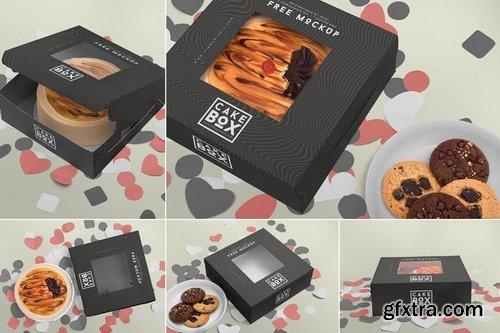 5 Lovely Cake Box Mockups