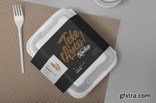 6 Disposable Food Packaging Mockups
