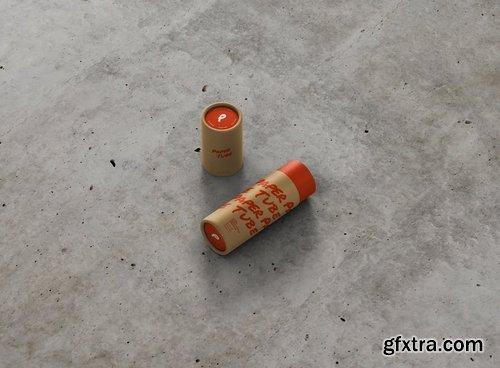 Paper Tube Mockup - Slim Short Size