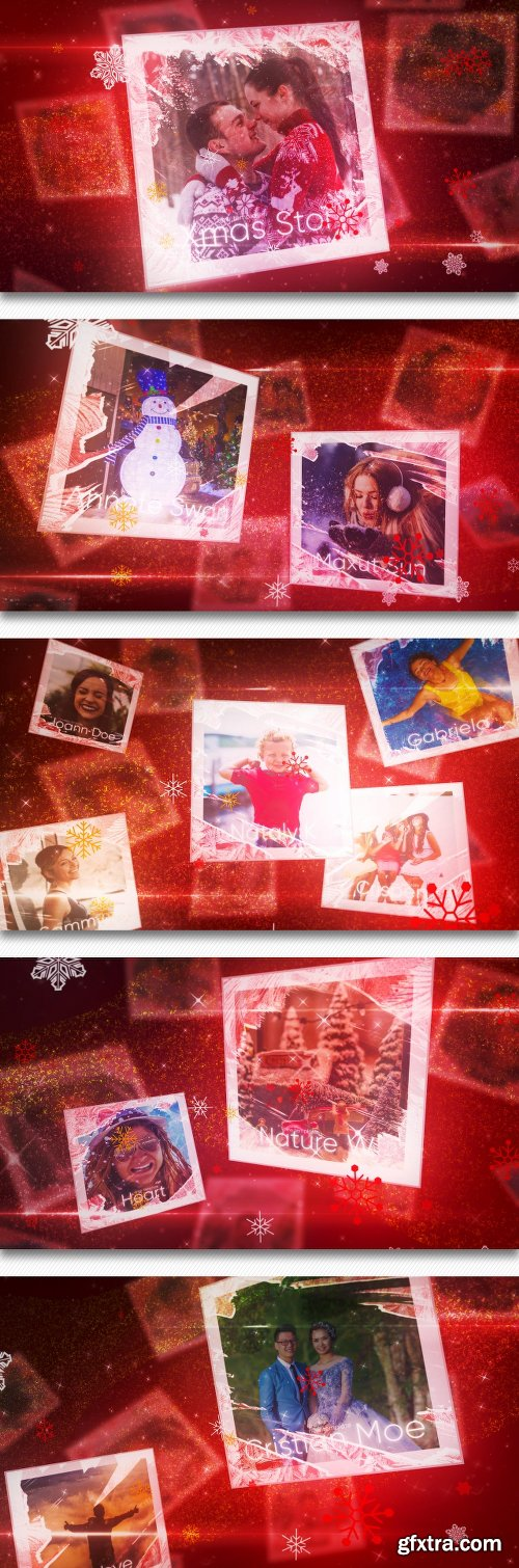 Videohive Christmas Flying Cards Slideshow 22783786