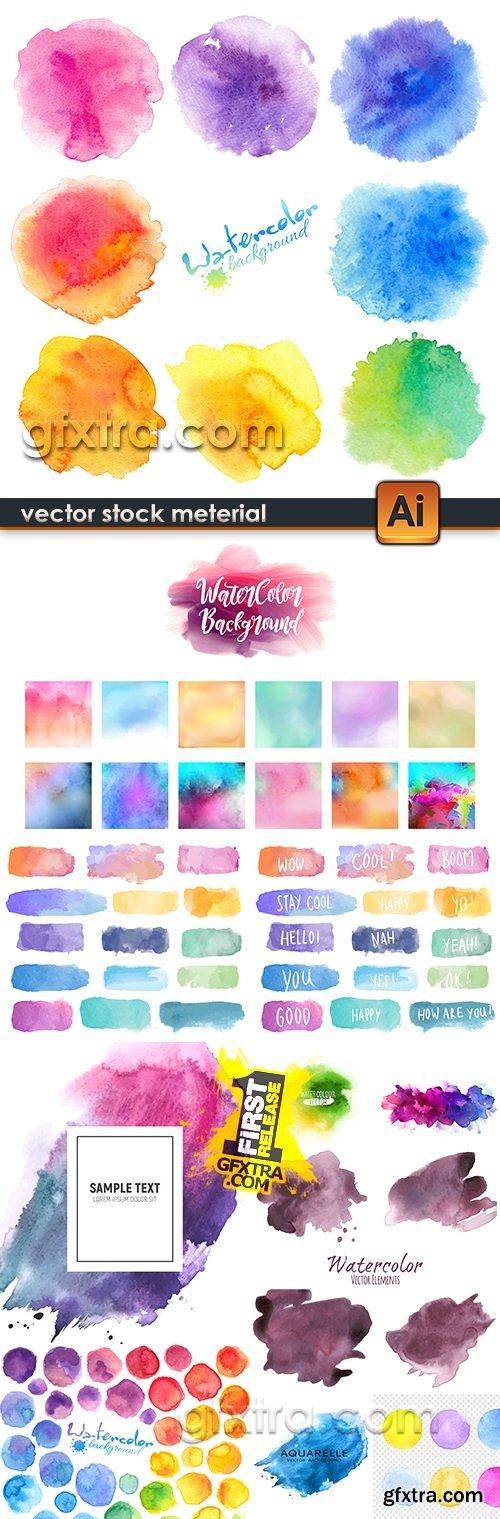 Decorative watercolor multi-colored spots of color