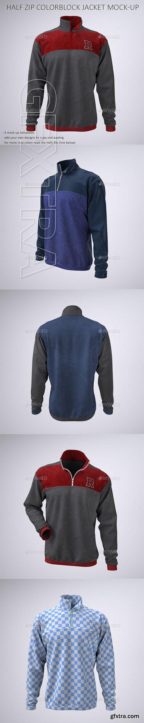 GraphicRiver - Half Zip Fleece Track Jacket Mock-Up 22735197