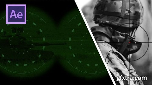 After Effects CC: Night Vision, Sniper scope, Security Camera
