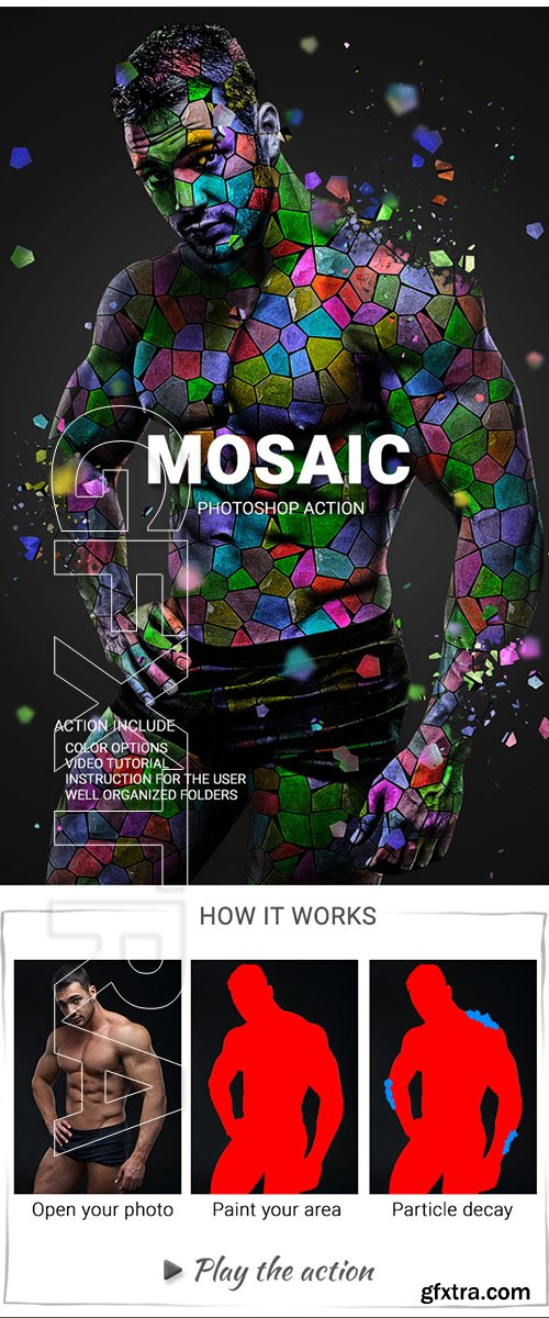 GraphicRiver - Mosaic Photoshop Action 22744500