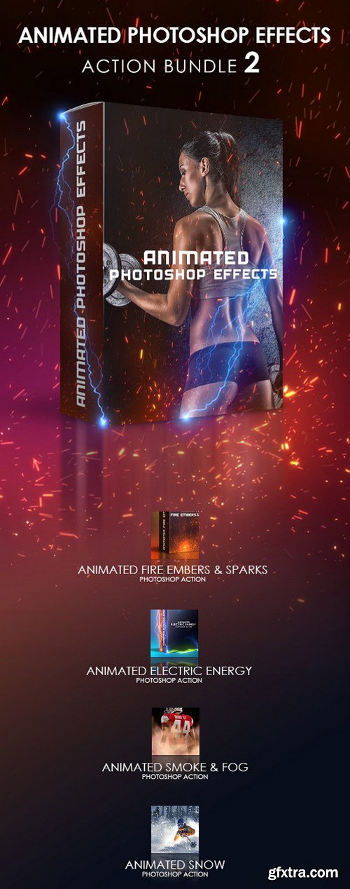 Graphicriver - Animated Photoshop Effects Action Bundle 2 20088620