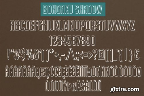 Bohgaku Family Font Family - 4 Fonts