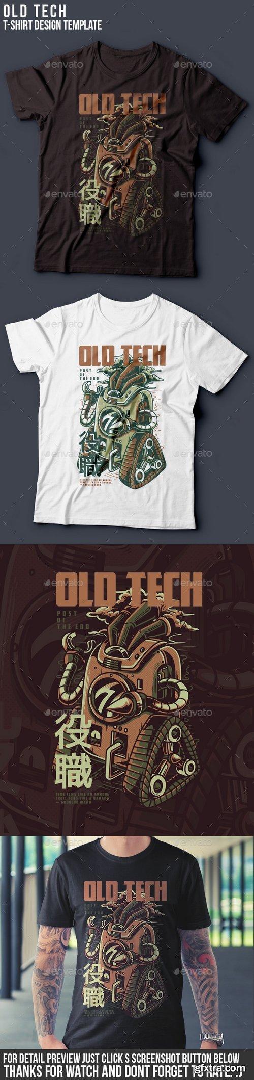 Graphicriver - Old Tech T-Shirt Design 22061835