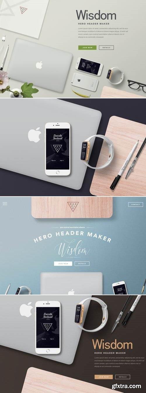 Hero Header Mockup – Apple Devices Mockups