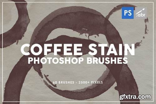 Coffee Stain Photoshop Brushes