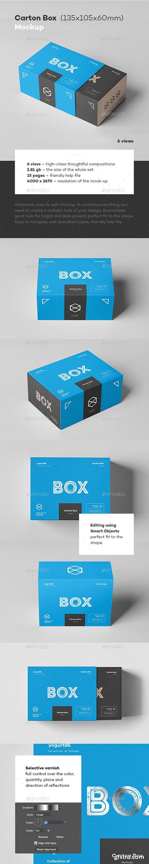 Carton Box Mock-up 135x105x60 & Wrapper 22798090