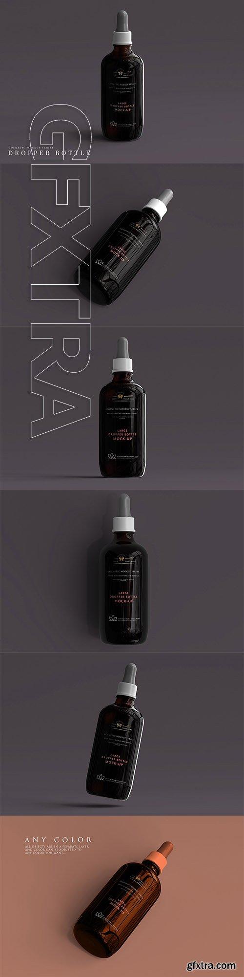 CreativeMarket - Large Dropper Bottle Mockup 3066137