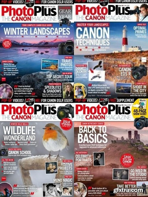 PhotoPlus. The Canon Magazine - Full Year Issues Collection 2018