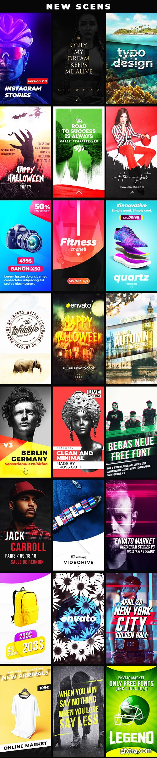 Videohive Instagram Stories V4 21895564 (With 3 October 18 Update))
