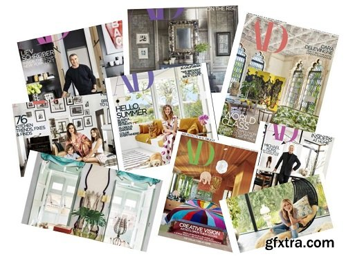 Architectural Digest USA - 2018 Full Year Issues Collection