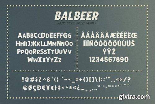 CreativeMarket BALBEER FONT FAMILY + BONUS 3060101