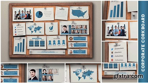 Videohive Corporate Corkboard Presentation 8198187