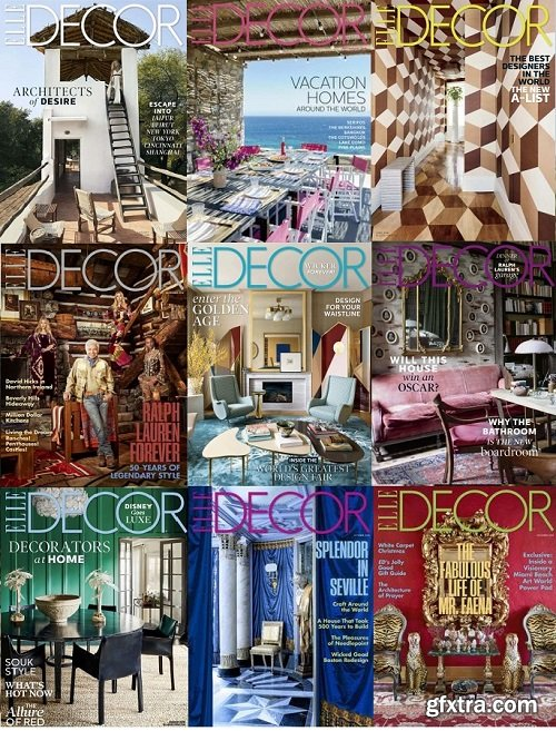 Elle Decor USA - 2018 Full Year Issues Collection