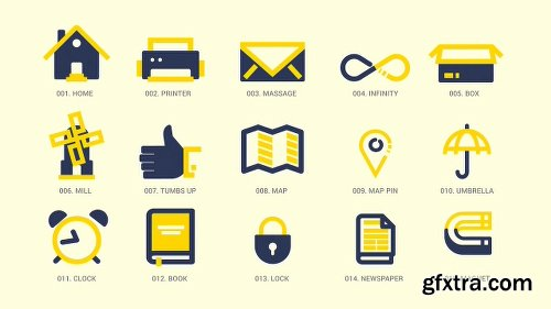 Videohive Animated Icons Pack 11596193