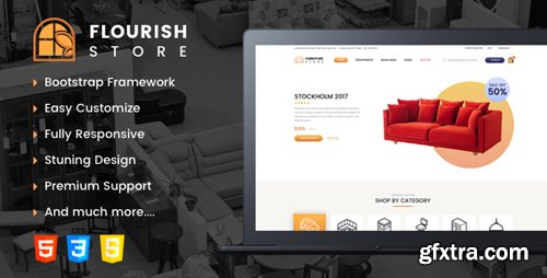 ThemeForest - Flourish v1.0 - eCommerce HTML5 Template - 22371936