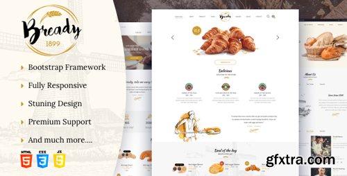 ThemeForest - Bready v1.2 - Bakery, Cakery & Food Template - 22312550