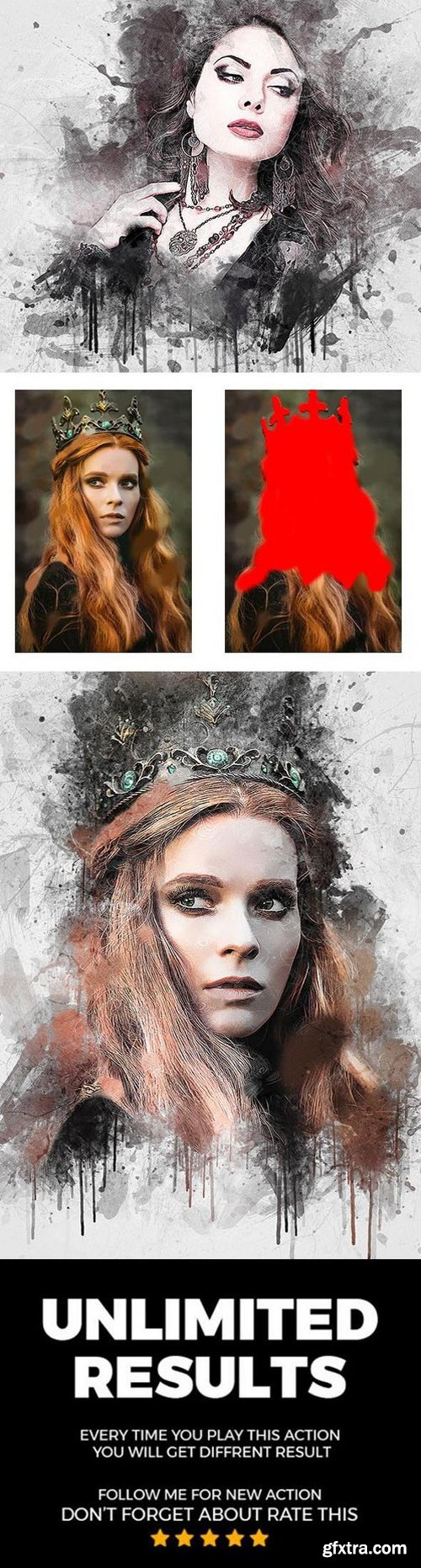 Graphicriver - Artistic 4 In 1 Photoshop Action Bundle 22555017