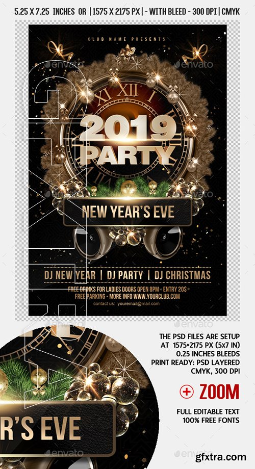 GraphicRiver - New Year Party Flyer 22779398