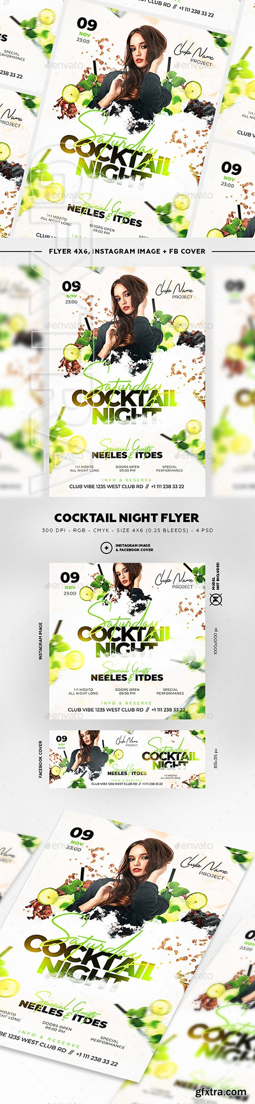 GraphicRiver - Cocktail Night Flyer 22791316