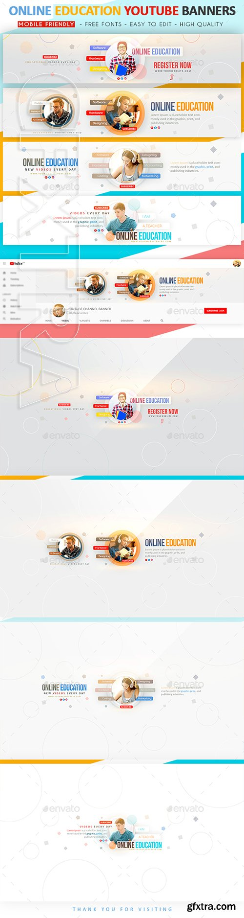GraphicRiver - Online Education YouTube Banner 22687076
