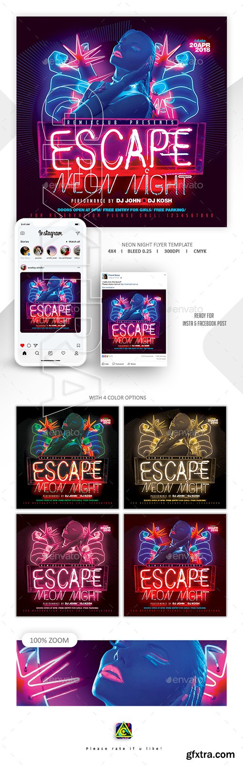 GraphicRiver - Neon Flyer Template 22764191