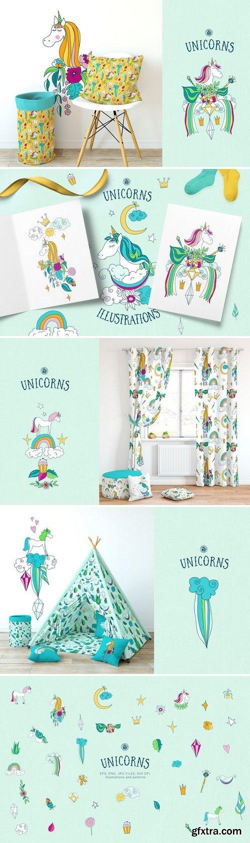 CM - Unicorns Illustrations 2611493