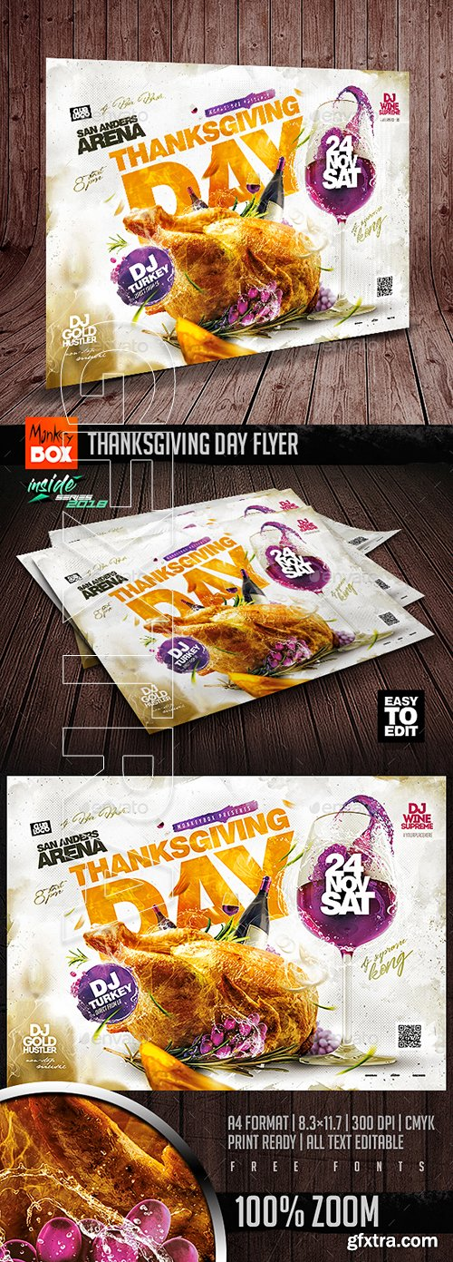 GraphicRiver - Thanksgiving Day Flyer 22781139