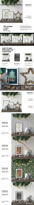 CreativeMarket - Christmas Frames & Wall Set 3092403