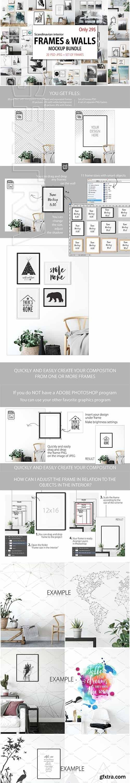 CreativeMarket - Frames & Walls Scandinavian Bundle 2984522