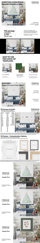 CreativeMarket - Christmas Living Room Set 3096663