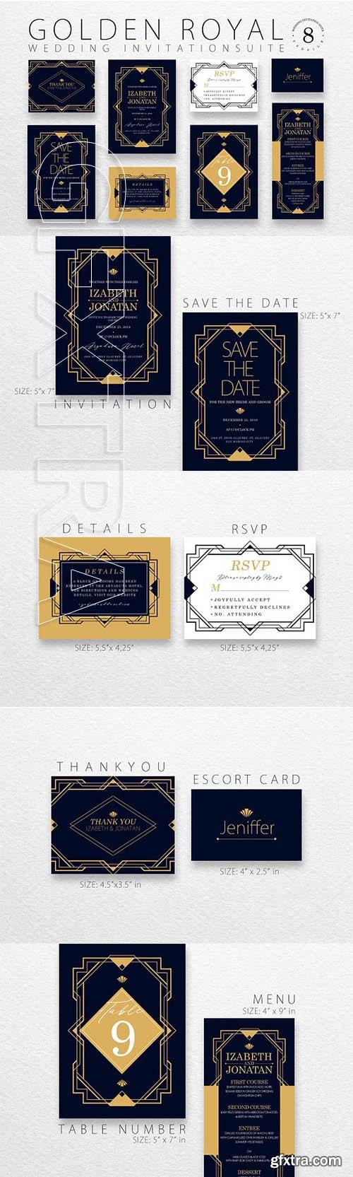 CreativeMarket - Golden Royal - Wedding Suite Ac 74 3052683