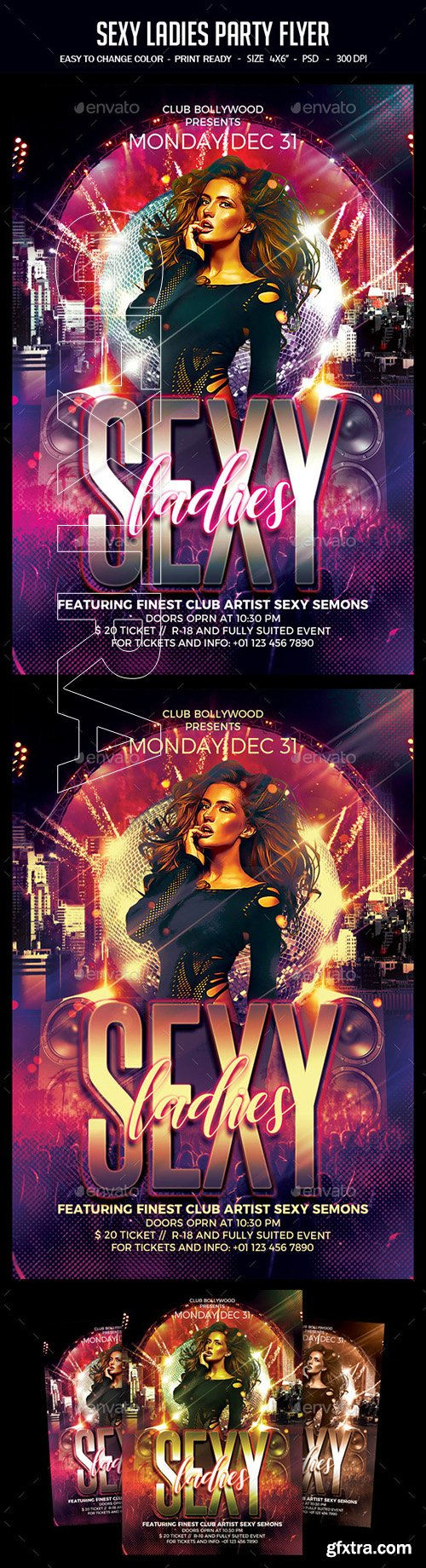 GraphicRiver - Sexy Ladies Party Flyer 22757843