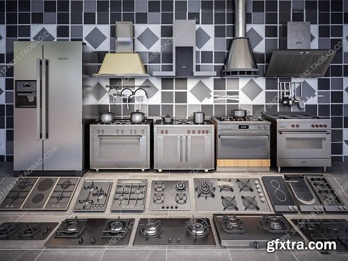 Kitchen Appliances 01 3d Models