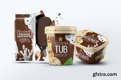 Ice Cream Packages Mock-Up Bundle