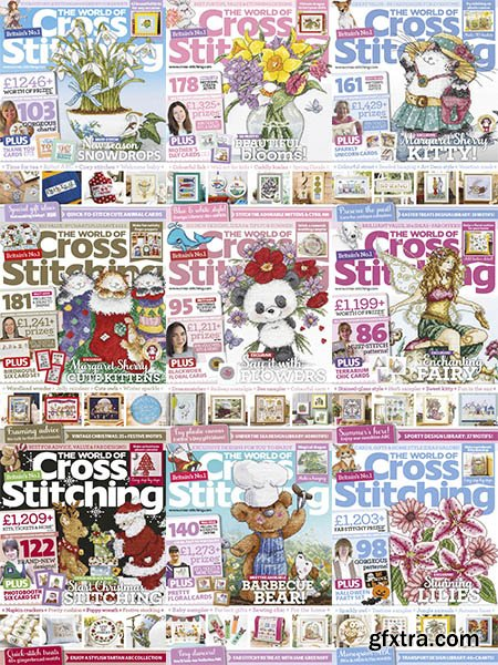 The World of Cross Stitching - 2018 Full Year Issues Collection