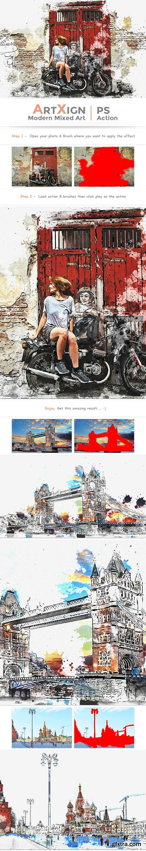GraphicRiver - Artxign - Modern Mixed Art | PS Action - 22727240